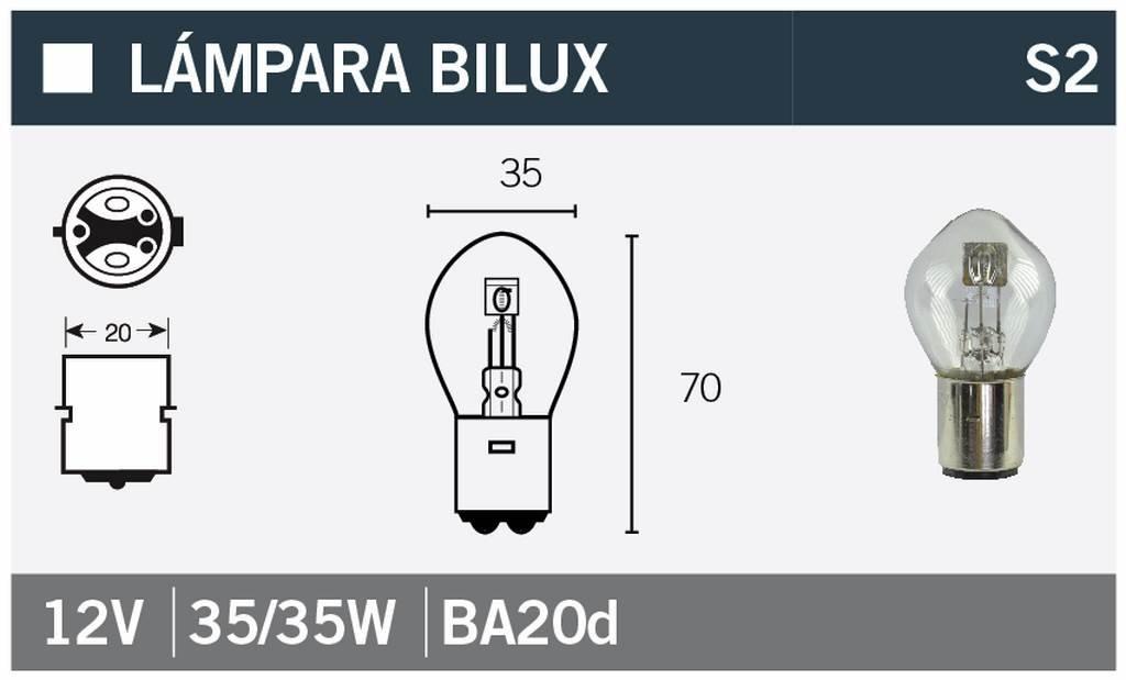 Lampe Glü hbirne BILUX 12V35/35W V PARTS 14671