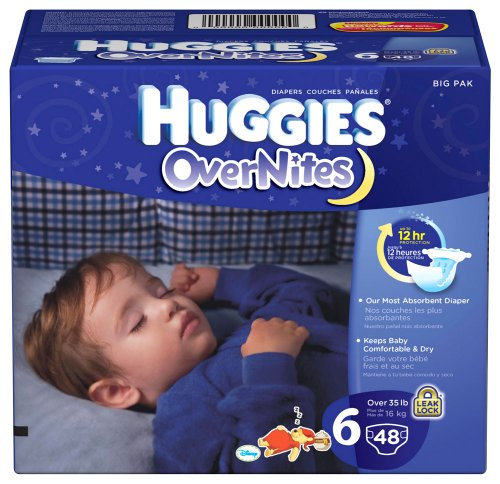 Huggies Overnites Diapers, Size 6, Big Pack, 48 Count