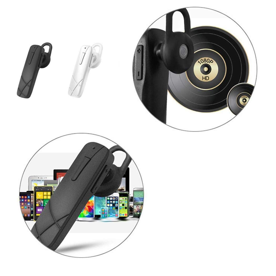 Pinsparkle Wireless Bluetooth Headset Stereo in-Ear Earphone Hands-Free for Car Driving Earbud Headphones