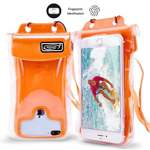 Floating Waterproof Phone Case,SEGMART IPX8 Waterproof Phone Pouch Underwater Dry Bag for for iPhone X/8/8P/7/7P/6P/6S; Galaxy S9/S9P/S8/Note 8; Google Pixel/Pixel Plus(Orange)