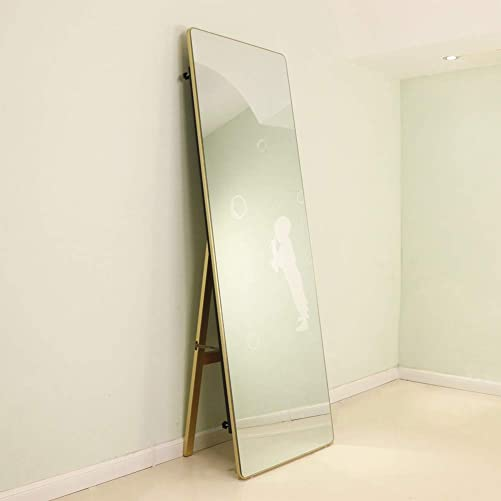 U HOME Wooden Full Length Floor Mirror,Free Standing Dressing Mirror
