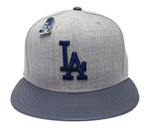 9ef24c6f056 New Era 59Fifty Hat Los Angeles Dodgers Pin 6X Trophy MLB Gray ...