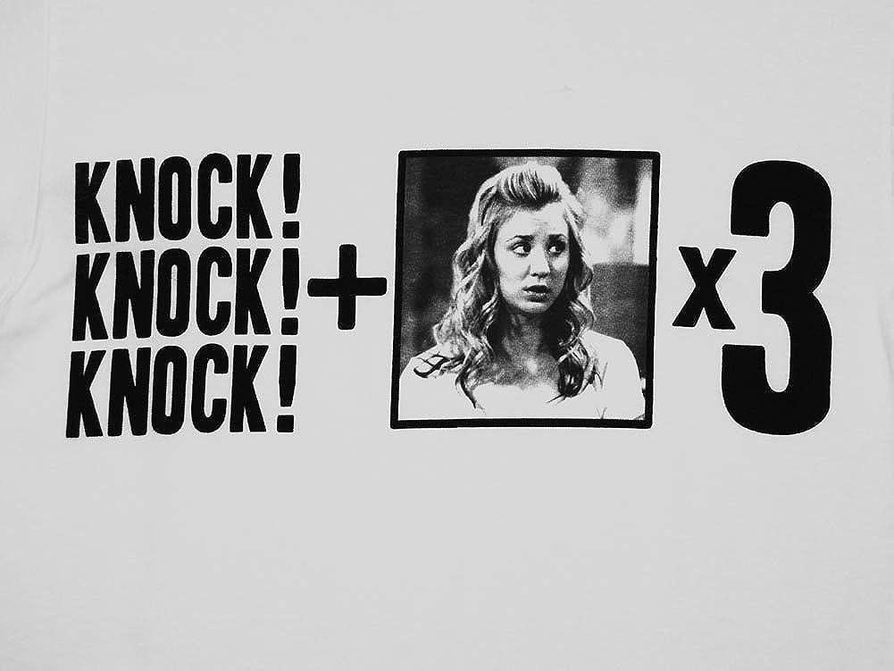 Nero 100/% Cotone 38,70/X 25,8/X 3,1/cm Big Bang Theory The 0122074/Telo Mare Knock Knock Knock Penny