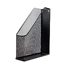 Labyrinen Metal Mesh Magazine File Holder - Wall Hanging Or Desktop Free-Standing - Black