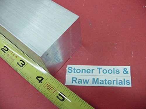 18 Pieces 2'' X 2'' ALUMINUM SQUARE 6061 T6 FLAT BAR 4'' long SOLID New Mill Stock by Stoner Metals