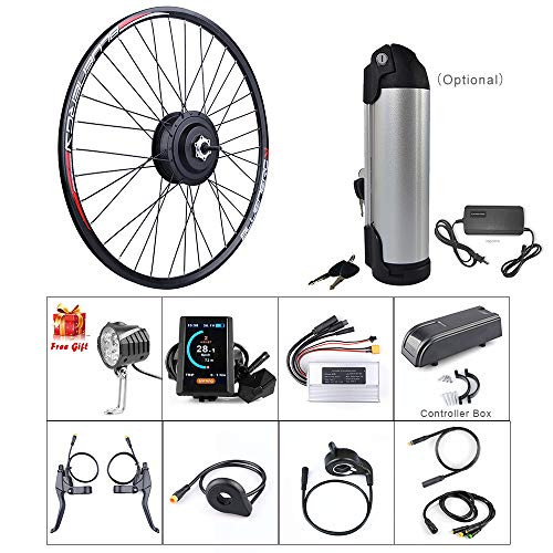 l E-Bike Conversion Kit Electric Bicycle Motor Kit Bicycle Accessories Set with PAS System, 48V 500W ()