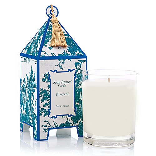 Seda France Classic Toile Pagoda Box Candle, Hyacinth, 10.2 Ounce