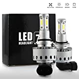 All in One 100W 10000LM LED Headlight High/Low Beam Fog DRL Conversion Kit Light Bulbs 6000K White 9005 9006 H4 H7 H10 H11 (9005/H10)