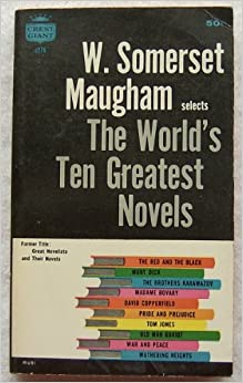 Book W. Somerset Maugham selects the world's ten greatest novels