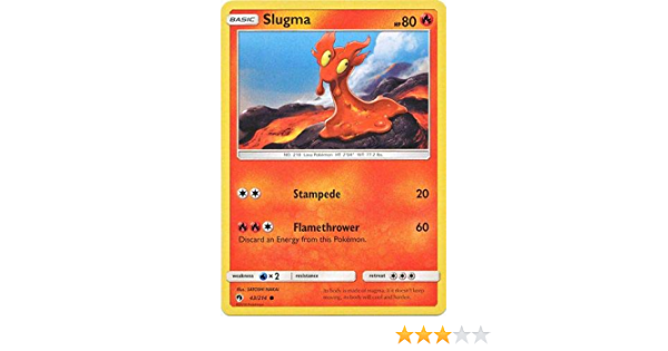 Slugma 43//214 - NM Common Pokemon Card Lost Thunder Set 2018