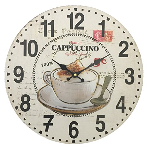 (Creative Motion 22026-7 Wall Clock with Cappuccino and Coffee Cup)