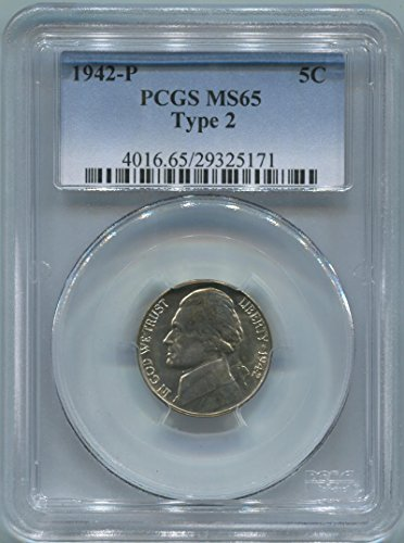 1942 P Jefferson Nickel Nickel MS65 PCGS