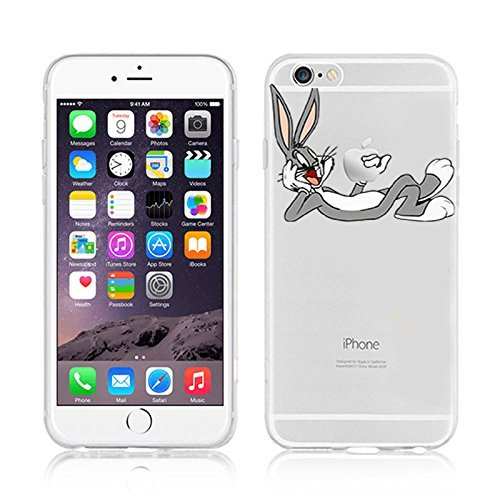 NEW DISNEY CARTOONS TRANSPARENT CLEAR TPU SOFT CASE FOR APPLE IPHONE 7 PLUS BUNNY 1