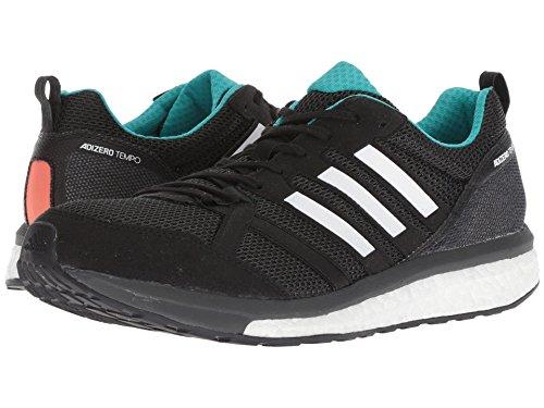 [adidas(アディダス)] メンズランニングシューズ?スニーカー?靴 adiZero Tempo 9 Black/Hi-Res Aqua/Mystery Ink 7.5 (25.5cm) D - Medium