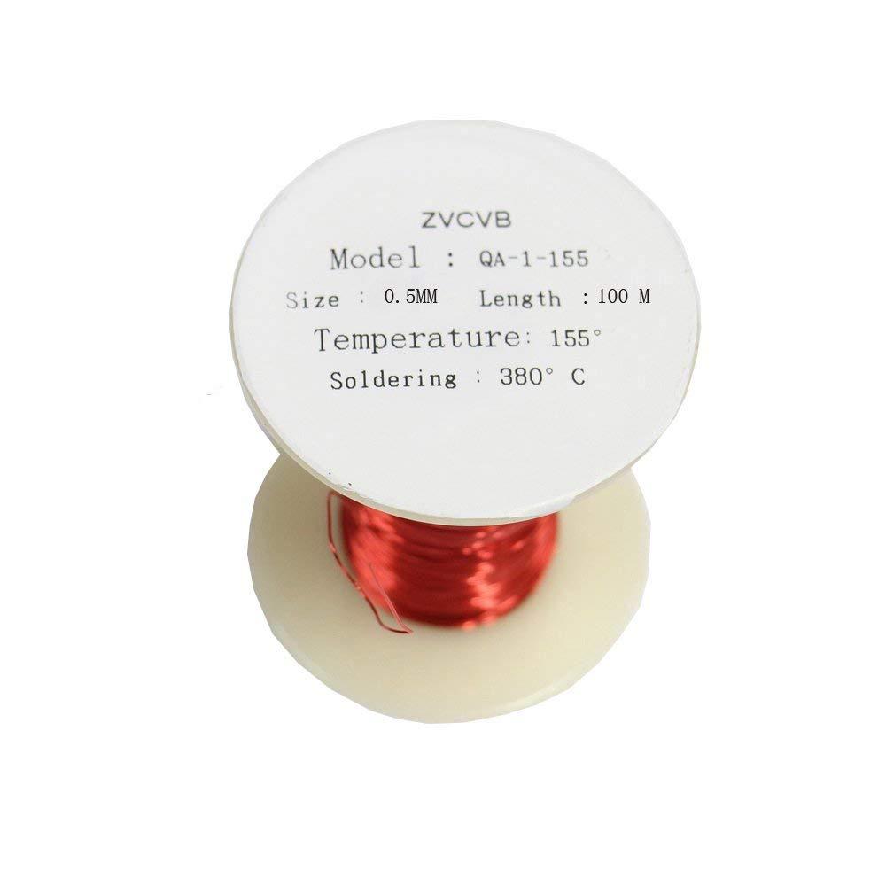 ZVCVB - Cable magné tico de alambre de cobre esmaltado (0, 5 x 100 m) (rojo)