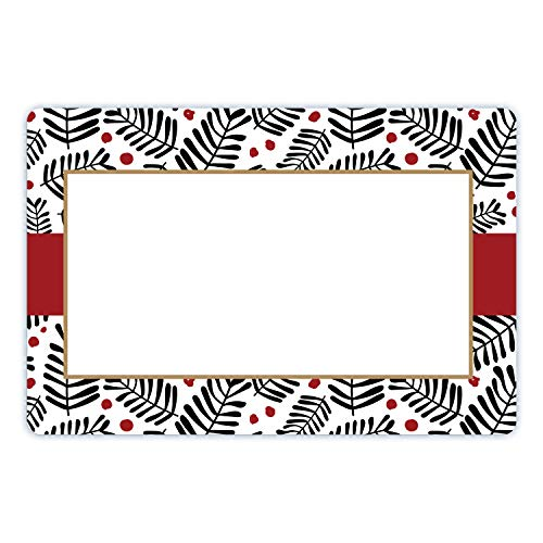 Avery Black & Red Holiday Labels, 3