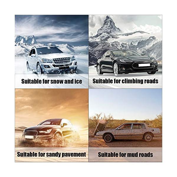 S SMAUTOP 6PCS Chaîne à Neige pour Pneu de Largeur 165-285mm, Chaîne de Neige Antidérapante de Véhicule SUV Voiture…