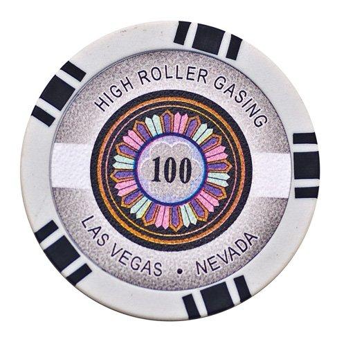 Lion Games & Gifts Europe 11.5 g High Roller Value 100 Chip (Black) ()