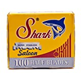 100 Shark Super Stainless Straight Edge Barber Razor Blades for Professional Barber Razors
