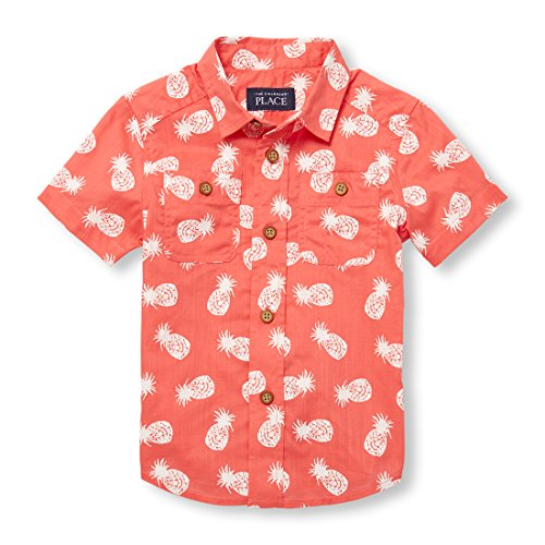 The Childrens Place Baby Boys Short Sleeve Button Down