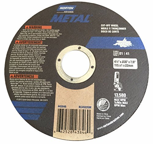 Norton 4 1/2'' X .035'' X 7/8'' Cut-off Wheel - Metal (Pack of 25)