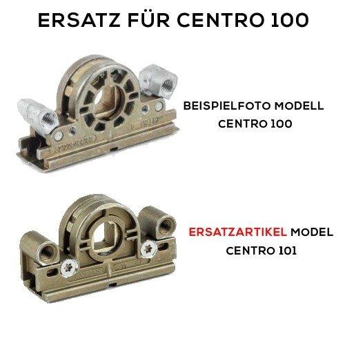 Roto Centro 101 Schneckengeh/äuse Getriebeschlo/ß mit ToniTec/® Upgrade gelb bzw hell verzinkt Dornma/ß 14,5 mm schraubbar
