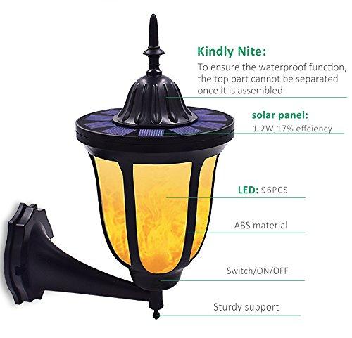 TodLight luces solares, baile parpadeante llamas al aire libre sendas solares antorchas luces a prueba de agua 96 LED linterna lámpara de alumbrado ...