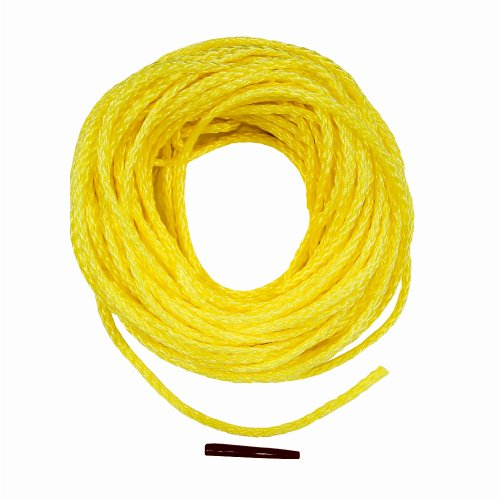 Lehigh DF850W-P 50-Feet Polypropylene Hollow Braid Floating Rope, Yellow (Splicing Polypropylene Rope)