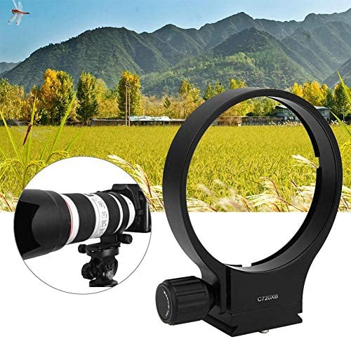 Mugast Lens Tripod Mount Ring,Alloy Camera Lens Collar Tripod Support Bracket Adapter Ring with Quick Release Plate for Sigma MC-11 Lens Adapter Inner Diameter 61.5mm