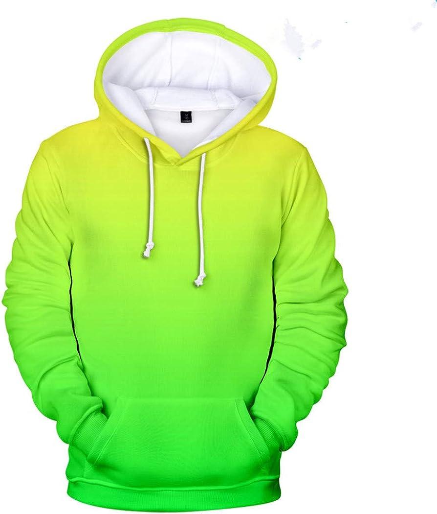 Neongrüner Hoody Männer/Frauen 3D Hoodie Sweatshirt Bunter Druck Hip Hop 4XL A9