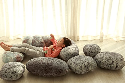 Vercart (TM) - 3D Artificial Living Stone 6 Pcs Mixed sizes - Throw Pillows Plush Toys For Children Creative Home Decoration Photo Or Film Props (LS02) by VERCART