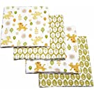 """Disney Baby Bedding Lion King Jungle Fun Flannel Blanket, 4-pack,30""""X30"""" INCHES"""