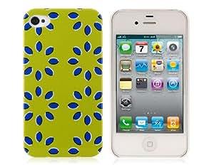 KOOBOS flor de plástico del patrón para el iPhone 4 / 4S