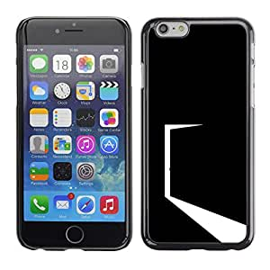CASECO - iPhone 6 - Minimalist Black Door - Delgado Negro Plástico caso cubierta Shell Armor Funda Case Cover - Minimalista Negro Puerta