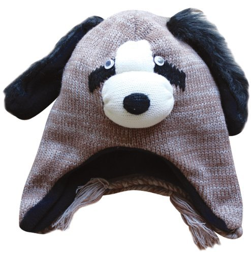 Choose from 22 Designs! - Winter Knit Adult Fleece Lined Animal Face (Knit Dog Ear Hat)