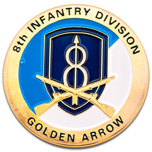 (Army 8th Infantry Division Challenge Coin Badge A011J )