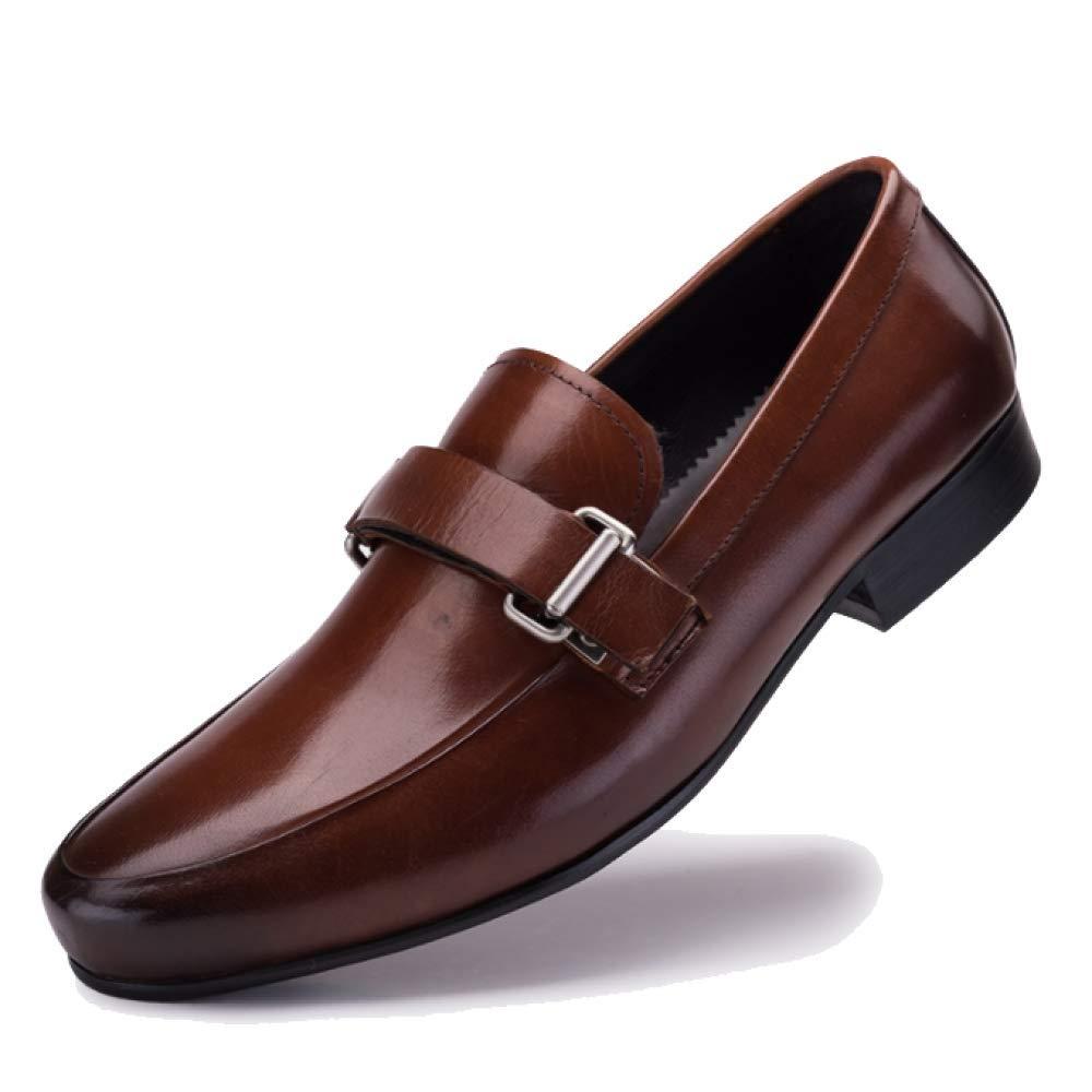 Manliga skor Med bälten mjuka botten Youthful Everday Weaking Weaking Weaking läder skor Bekväma  den mest fashionabla