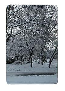 201764a5001 Anti-scratch Case Cover Recalling Protective Nature Winter Snow Trees Roads Case For Ipad Mini/mini 2