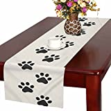 Table Runner 16in72in print with cute animals paws
