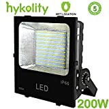 Hykolity 200W 22000lm LED Flood Light, Outdoor Weatherproof Signage Security Light for Landscape Architecture [800W Equivalent] 5000K