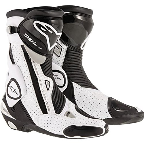 Alpinestars Mens SMX Plus Vented Boot (Black/White, EU 44)