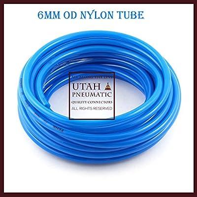 Utah Pneumatic 6mm Od 4mm Id10 Meters PU Air Tubing Pipe Hose Nylon Air Hose For Air Line Tubing Or Fluid Transfer pneumatic tubing (Nylon Tube 6mm)
