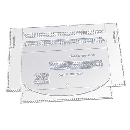 4 Stück Set klar Leder Muster Acryl Vorlagen für Schultertaschen