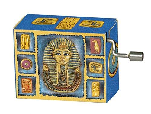 Fridolin 58171 'Mozart The Magic Flute/Egypt Tutenchamun with Gold Imprint Music Box