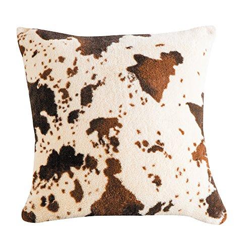 Cow Print Sherpa Pillow