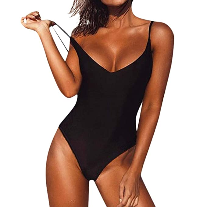 Amazon.com: FEDULK Womens Monokini One Piece Swimwear ...