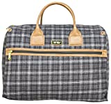 Nicole Miller New York Rosalie Collection Weekender Carry On Box Bag (Gray)