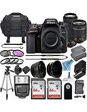 Nikon D7500 20.9 MP DSLR Digital Camera w/AF-P DX NIKKOR 18-55mm f/3.5-5.6G VR & AF-P DX 70-300mm f/4.5-6.3G ED Lens + 2 SanDisk 64GB Memory Card + Accessory Bundle (Black)