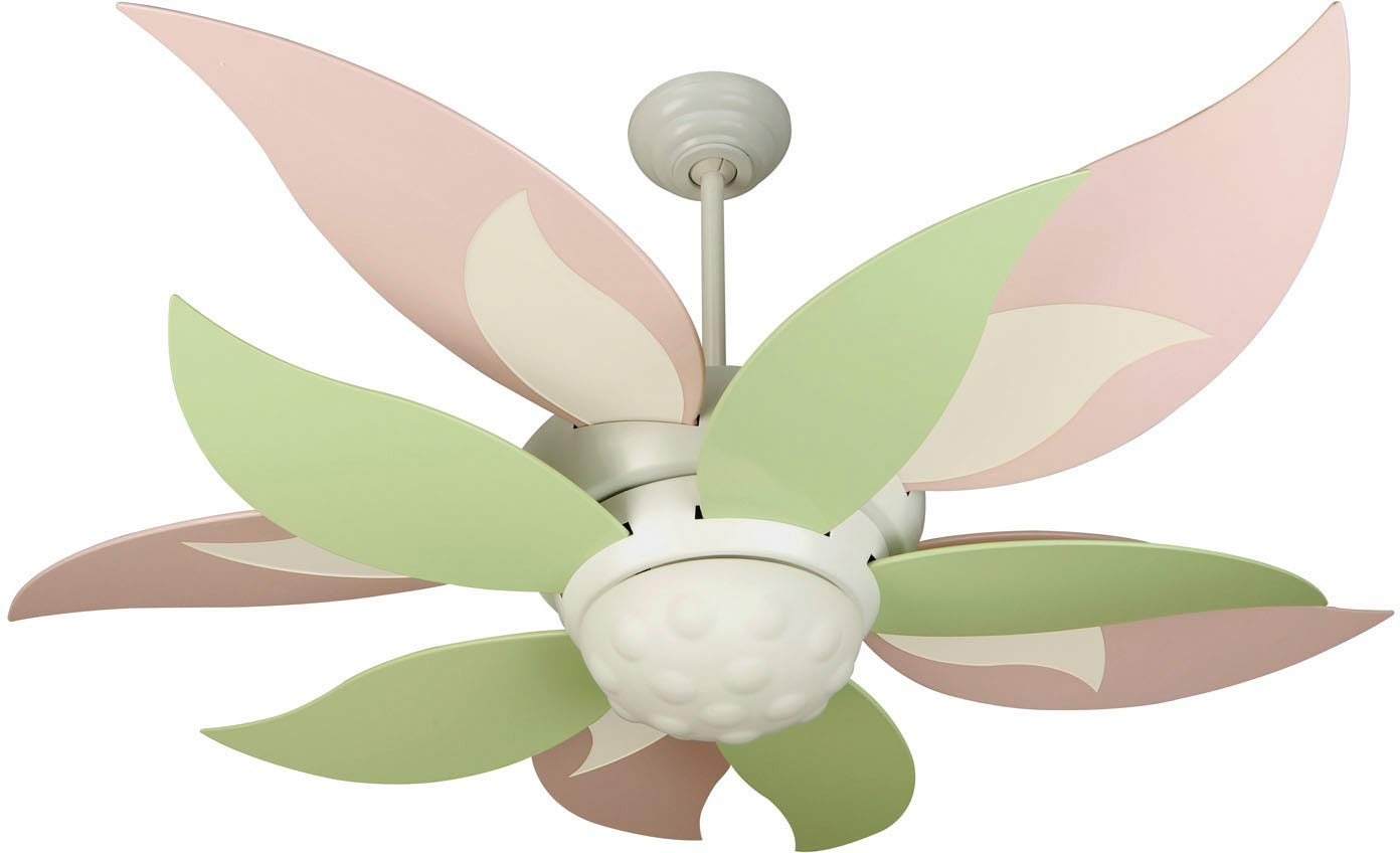 Craftmade K10367 Bloom 52 Ceiling Fan with CFL Lights and Remote Wall Control, 10 Blades, White