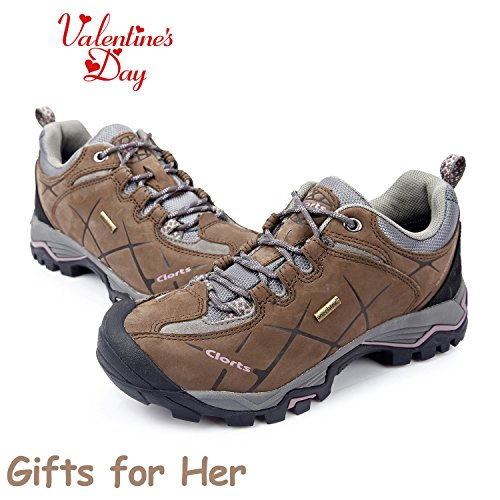 Clorts Mujeres Nubuck Hiking Shoe Zapatillas Impermeables Trail Hkl805 Marrón